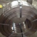 High-strength flat wire for press winding
